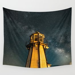 Mountain Light House Two Wall Tapestry