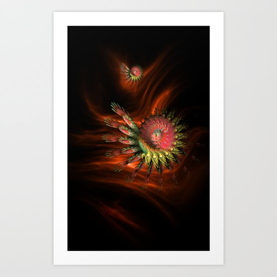 Spiral in Red Art Print