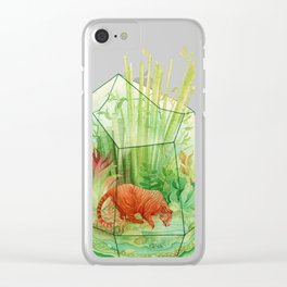 Tigerrarium Clear iPhone Case