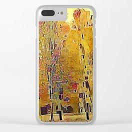 Klimt Trees Clear iPhone Case