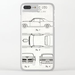Pontiac GTO old canvas Clear iPhone Case