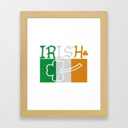 Irish Flag Vintage St Patricks Day Framed Art Print