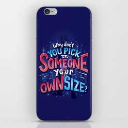 Own size iPhone Skin