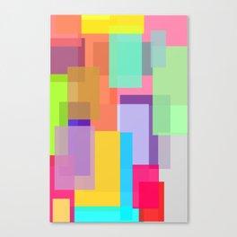 Color Tangles Canvas Print