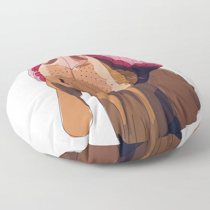 Hipster Vizsla Floor Pillow