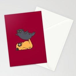 Acroyoga Pugs Stationery Cards