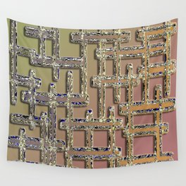 Puzzling pipe maze pattern design Wall Tapestry
