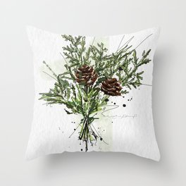Greens of Christmas Throw Pillow