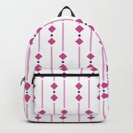 geometric design pink rhombuses Backpack