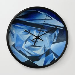Cubist Portrait of Pablo Picasso: The Blue Period  Wall Clock