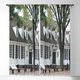 White Clapboard House - Colonial Williamsburg Blackout Curtain