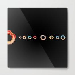 Solar System Donuts Metal Print
