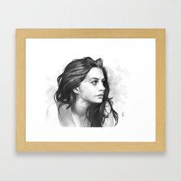 Anne Hathaway minimalist illustration Framed Art Print