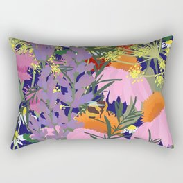 Aromatherapy for the Bees in Midnight Navy Rectangular Pillow