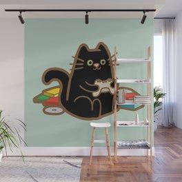 Gamer Cat Wall Mural