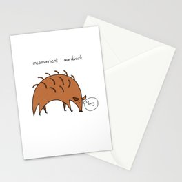 Inconvenient aardvark Stationery Cards