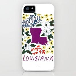 Louisiana + Florals iPhone Case