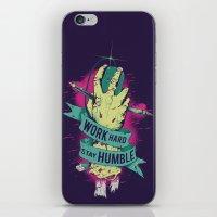 work hard iPhone & iPod Skins featuring Work Hard by Akiwa