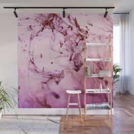 Rose Grapes Ocean Ink Fluid Wall Mural