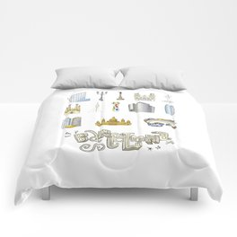 Barcelona with significant buildings Comforters