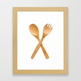 Crossed fork and spoon sign Framed Art Print