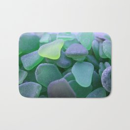 Beach Glass, dark green Bath Mat