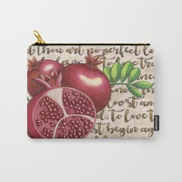 Pomegranate, Love Anew, Persephone, fruit art, love poem, food art, rebirth, fertility goddess Carry-All Pouch