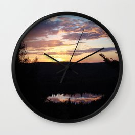 Sunset Hike #3 Oberg Wall Clock