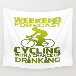 WEEKEND FORECAST CYCLING Wall Tapestry