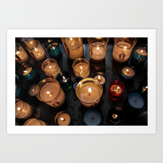 Cathedral Candles Art Print