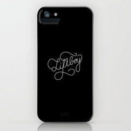 Liftboy   [black & white] iPhone Case