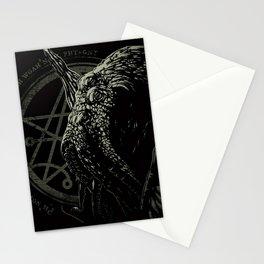 Cthulhu - Chant design - Necronomicon symbol Stationery Cards