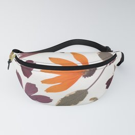 Garden Blooms Multicolor Pressed Flower Collage Fanny Pack