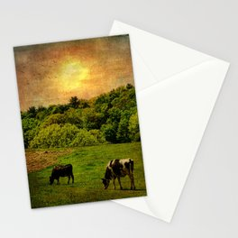 Cows in the Field Stationery Cards