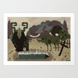 Bonedigger & Wulf Art Print