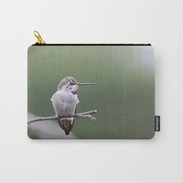 Hummingbird with bow in hair Carry-All Pouch