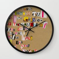 cigarettes Wall Clocks featuring Stale Cigarettes by Maison Fioravante - Fine Artist