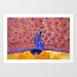 Peacock Poetry Art Print