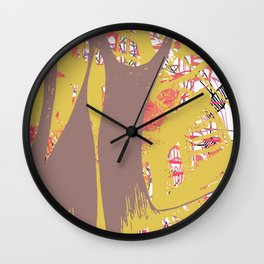 etched n sketched Wall Clock