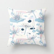 Waterlilies in pastels Throw Pillow