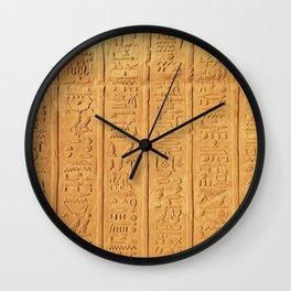 Hyerogliph Wall Clock