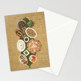 Fiesta (1/3) painting by Phoebe Lim Stationery Cards
