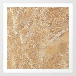 Mud Marble Texture Art Print