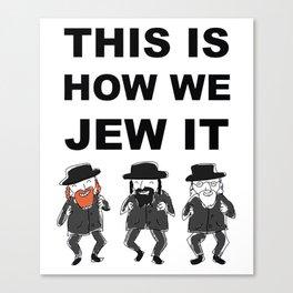Funny Jewish Shirt | Hanukkah Shirt | Hebrew Shirt T-Shirts Canvas Print