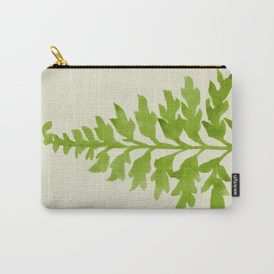 Lime Fern Carry-All Pouch