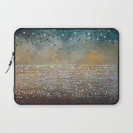 Landscape Dots - Turquoise Laptop Sleeve