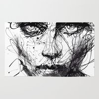 agnes cecile Area & Throw Rugs featuring In trouble, she will. by agnes-cecile