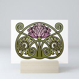Nouveau Thistle Mini Art Print