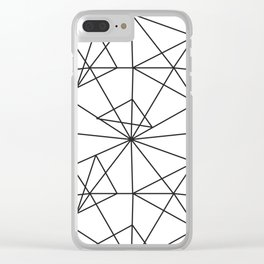 Contemporary black white abstract geometrical Clear iPhone Case