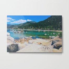 Keep Tahoe Blue Metal Print